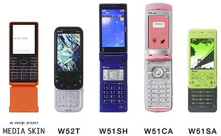 KDDI Unveils 10 New 3G Cellphones for Spring 2007 by Mobikyo KK